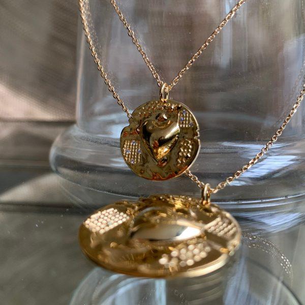 Collier médaille coeur