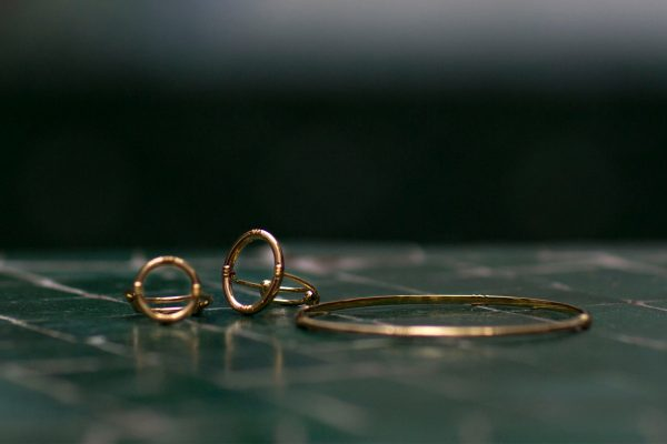 Bague anneau ovale