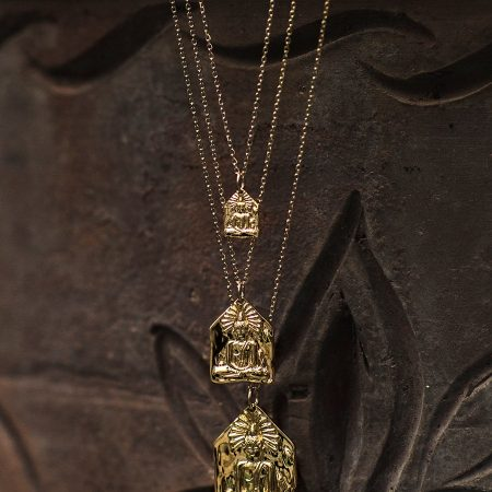 Collier medaille bouddha
