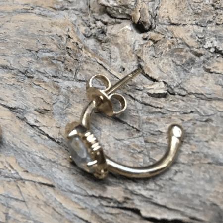 Mini créole pierre sertie
