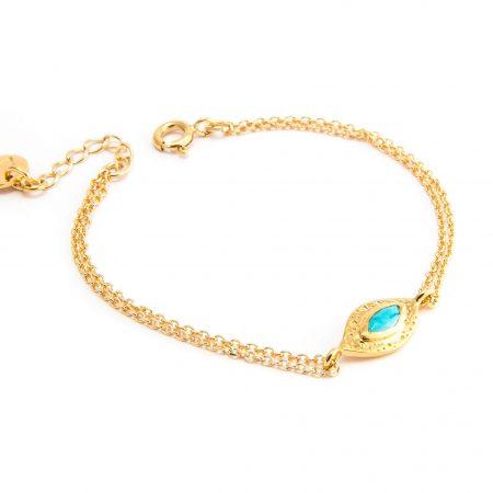Bracelet oeil et chaîne